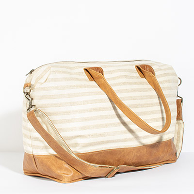 Tuscany Weekender - natural stripe