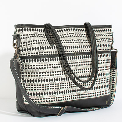 Montauk Diaper Bag - abstract checkers