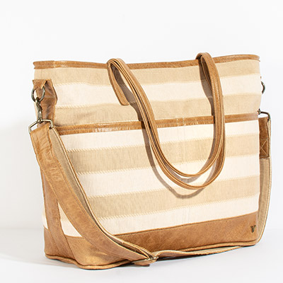 Montauk Diaper Bag - nashville stripe