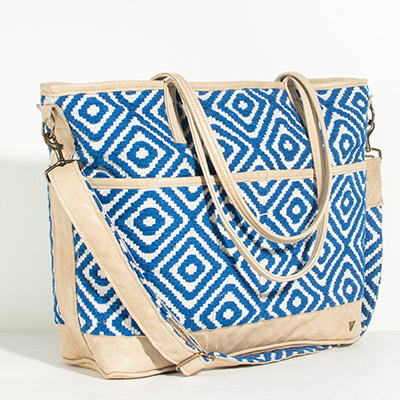 Montauk Diaper Bag - royal diamond