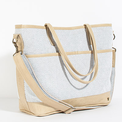 Montauk Diaper Bag - silver diamond