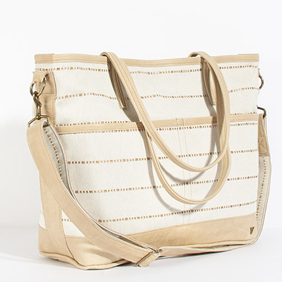 Montauk Diaper Bag - threaded tea