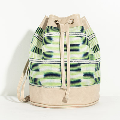 Bristol Backpack - emerald tribal