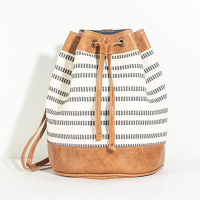Bristol Backpack - indigo stripes