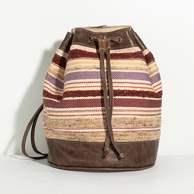 Bristol Backpack - muted jewel stripe