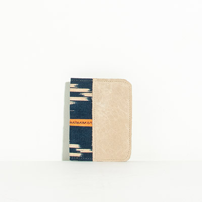 Grenada Passport Case - indigo tribal