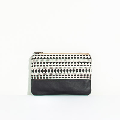 Tybee Pouch - abstract checkers