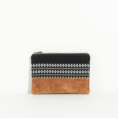 Tybee Pouch - black diamond