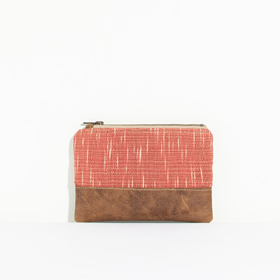 Tybee Pouch - blurred paprika