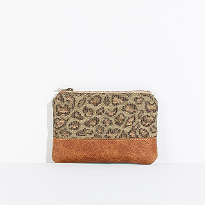 Tybee Pouch - faded leopard