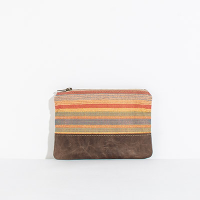 Tybee Pouch - rainbow lines