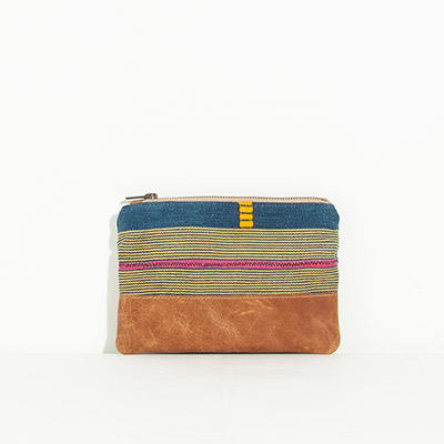Tybee Pouch - sunset tribal