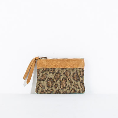 Corsica Coin Pouch - faded leopard