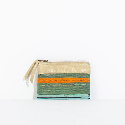 Corsica Coin Pouch - poppy tribal
